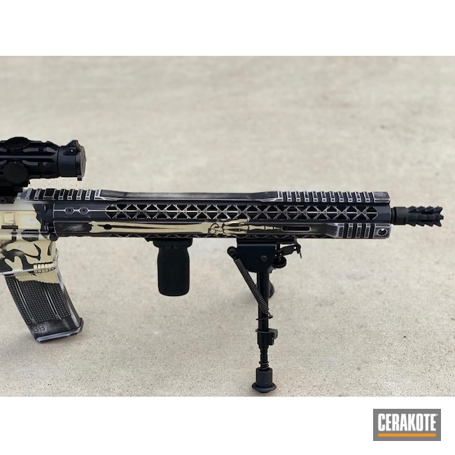 Cerakoted: Skull,Graphite Black H-146,Tactical Rifle