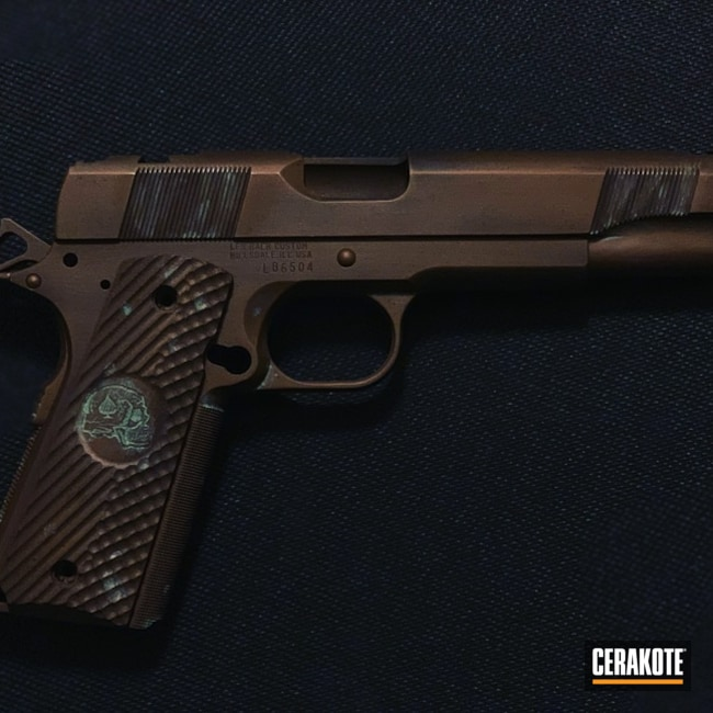 Cerakoted: Copper Patina,Burnt Bronze H-148,Pistol,1911