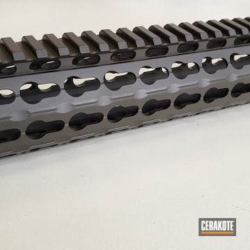 Cerakoted Handguard Done In H-232 Magpul O.d. Green