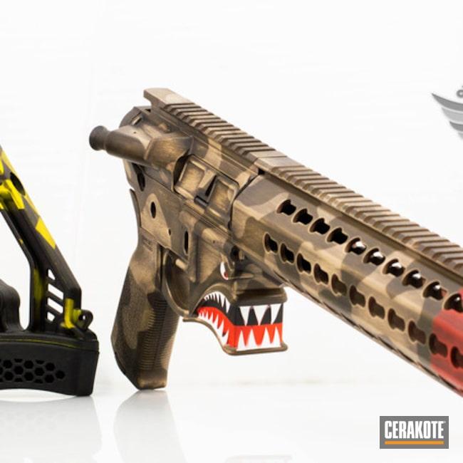 Cerakoted: Desert Camo,Spikes Tactical Hellbreaker,P40,Spike's Tactical,Desert Sand H-199,Tactical Rifle,AR-15