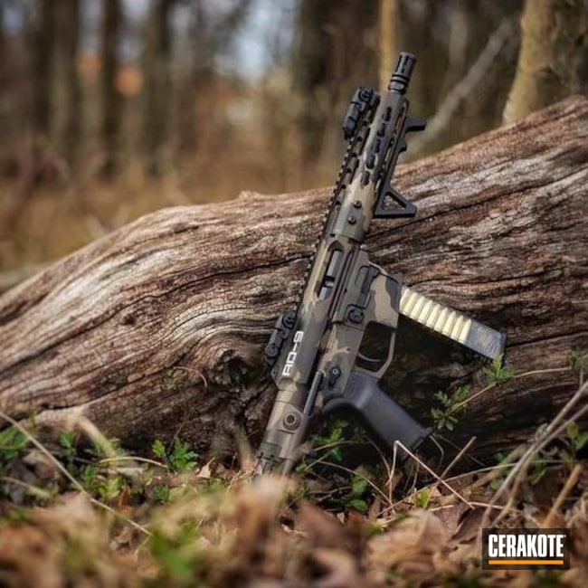 Cerakoted: AR Pistol,MAGPUL® FLAT DARK EARTH H-267,Graphite Black H-146,Mil Spec O.D. Green H-240,Tactical Rifle,SBR,Custom Camo