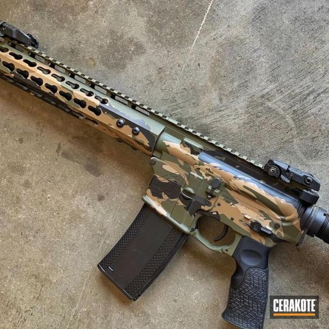 Cerakoted: Aero Precision,Vietnam Tiger Stripe Camo,MAGPUL® FLAT DARK EARTH H-267,MultiCam,Graphite Black H-146,Mil Spec O.D. Green H-240,Tactical Rifle