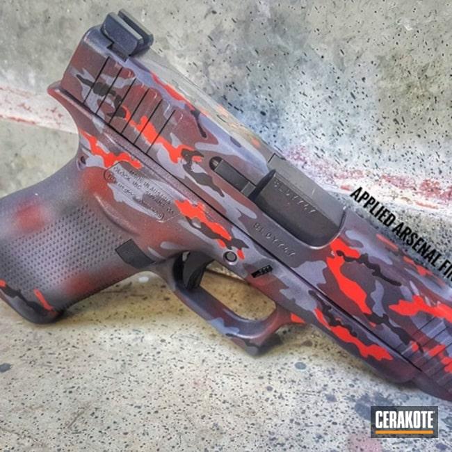 Cerakoted: Glock 48,Sniper Grey H-234,Graphite Black H-146,Pistol,Glock,Handguns,SMITH & WESSON® RED H-216
