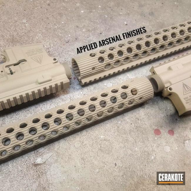 Cerakoted: Desert Sand H-199,Handguard,Upper / Lower / Handguard,Solid Tone,Tactical Rifle