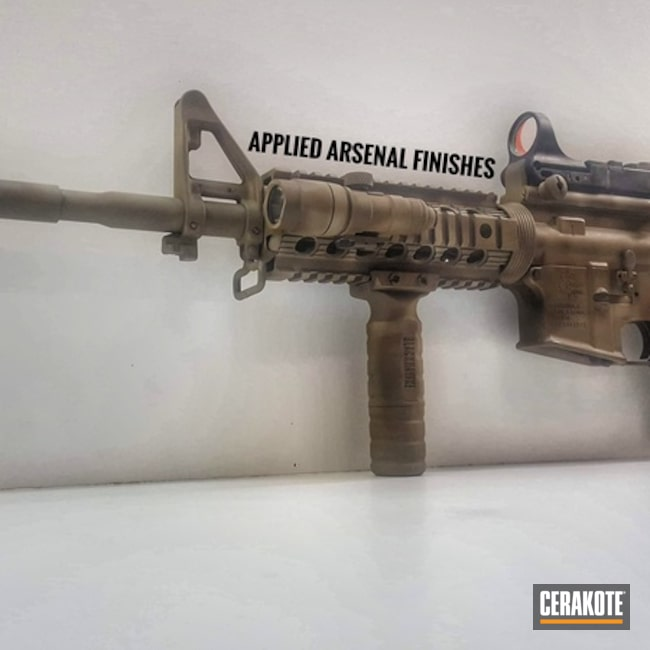 Cerakoted: Freehand Camo,Coyote Tan H-235,SPRINGFIELD® FDE H-305,Rock River AR15,Ultra Blend,Patriot Brown H-226,Tactical Rifle,M4 Carbine,Rock River Arms,Chocolate Brown H-258