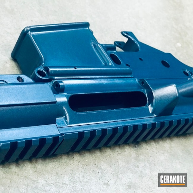 Cerakoted: Upper / Lower / Handguard,Steve Williams,Christopher Miller,Blue Titanium H-185