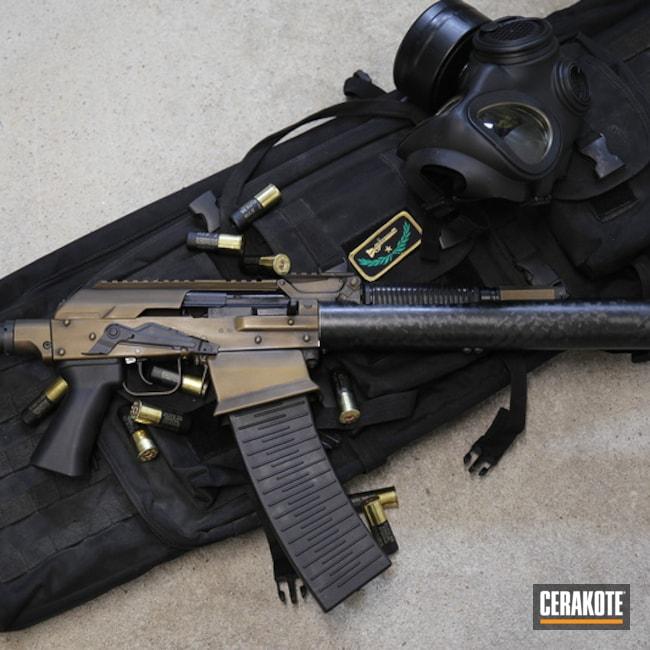 Cerakoted: Shotgun,Graphite Black H-146,Distressed,Two Tone,Burnt Bronze H-148,12 Gauge,Molot,VEPR-12,Steampunk