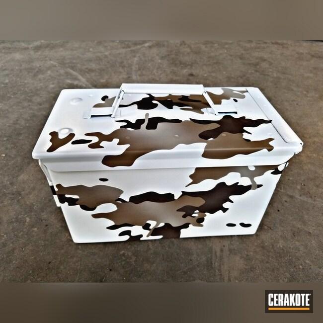 Cerakoted: Ammo Can,Stormtrooper White H-297,Ammo Box,More Than Guns,Snow Camo