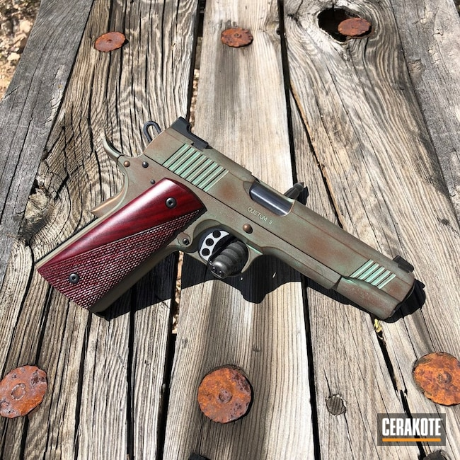 Cerakote Copper Patina Finish on this Kimber 1911