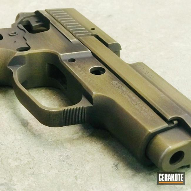 Cerakoted: Sig Sauer P229,Graphite Black H-146,Distressed,Burnt Bronze H-148,Pistol,Sig Sauer,Steve Williams,Christopher Miller