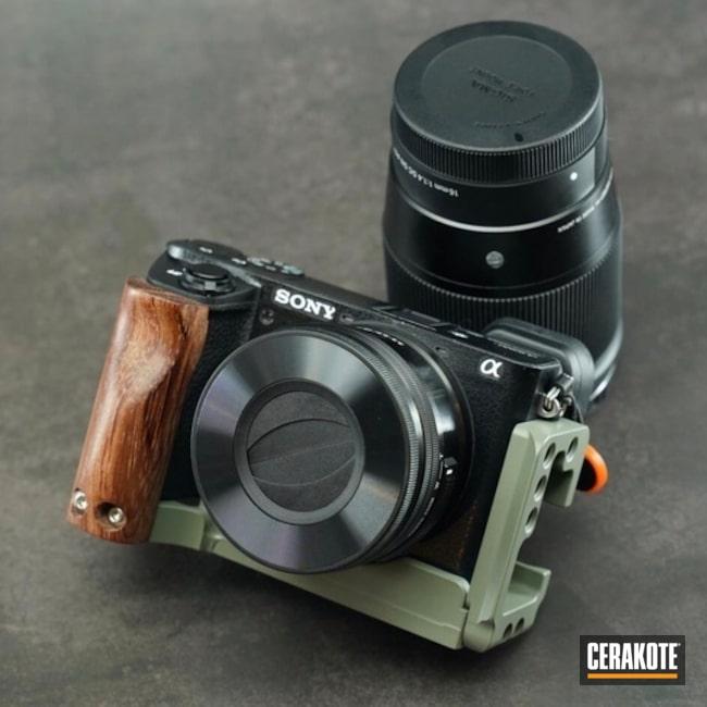 Cerakoted Sony Camera Body With Cerakote Elite Jungle E-140