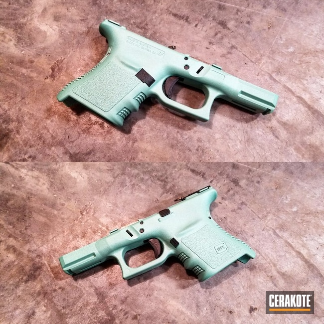 Custom Cerakote Teal Mix on this Glock Frame