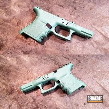 Cerakoted Custom Cerakote Teal Mix On This Glock Frame