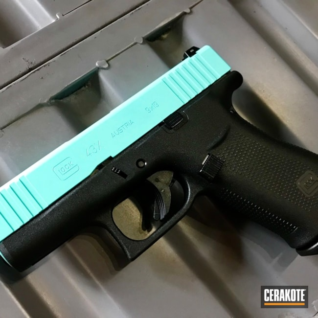 Cerakoted: Robin's Egg Blue H-175,Two Tone,Pistol,Glock,Glock 43