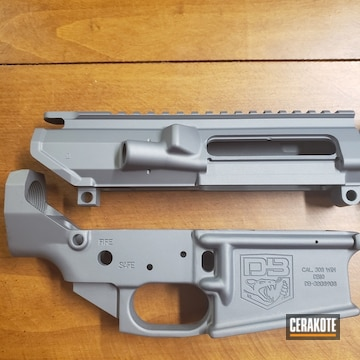 Cerakoted Ar-10 Gun Parts In Cerakote H-227 Tactical Grey