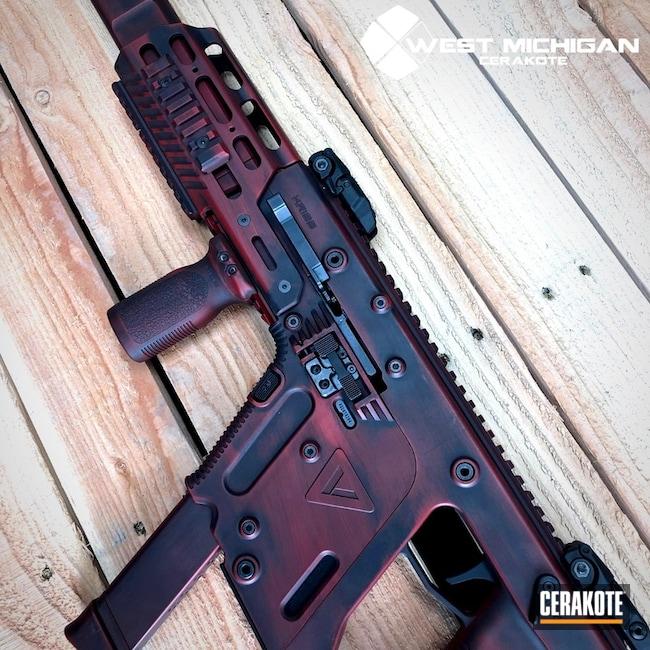 Cerakoted: Kriss Vector,Graphite Black H-146,Grim Reaper,Crimson H-221,Bushmaster ACR