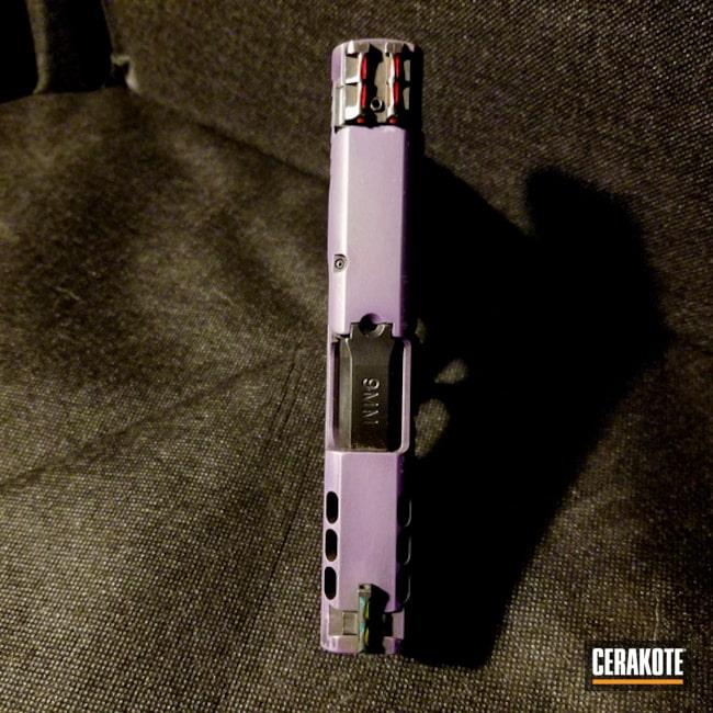 Cerakoted: M&P Shield 9mm,Bright Purple H-217,Two Tone,Smith & Wesson,Pistol