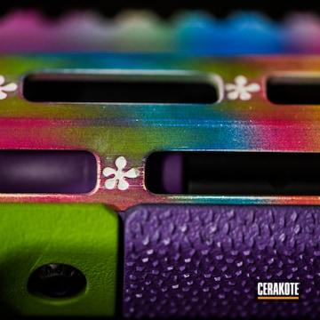 Cerakoted Custom Rainbow Finish Cerakoted With H-144, H-169, H-168, H-224, H-136 And H-138