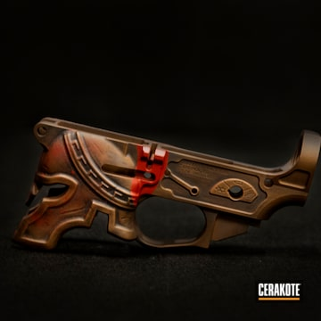 Cerakoted Bronze Spike's Spartan Themed Rifle