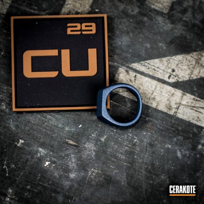 Cerakoted: Rings,More Than Guns,Blue Titanium H-185,Jewelry