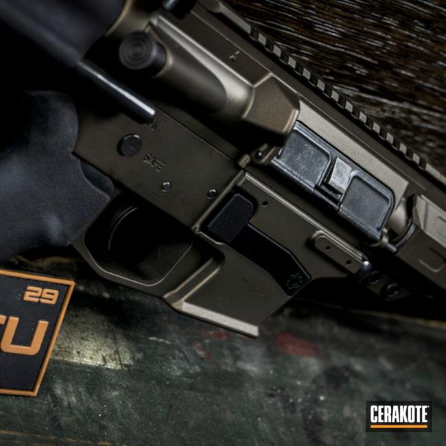Cerakoted: AR Pistol,.45 ACP,Upper / Lower / Handguard,Tactical Rifle,Midnight Bronze H-294,CMMG