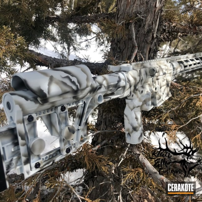 Cerakoted: Hunting Rifle,Graphite Black H-146,SMITH & WESSON® GREY H-214,Stormtrooper White H-297,Tactical Rifle,Falkor Defence,Snow Camo