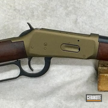 Cerakoted Winchester Model 94 Rifle With A Cerakote H-146 And H-148 Finish