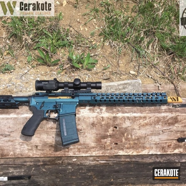 "Thumbnail image for project ""AR-15 with Gun Candy over Cerakote Armor Black and Matte Ceramic Clear"""