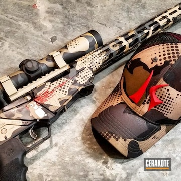 Cerakoted Custom Camo / Themed Cerakote Finish On This Ruger Precision 22 Rifle