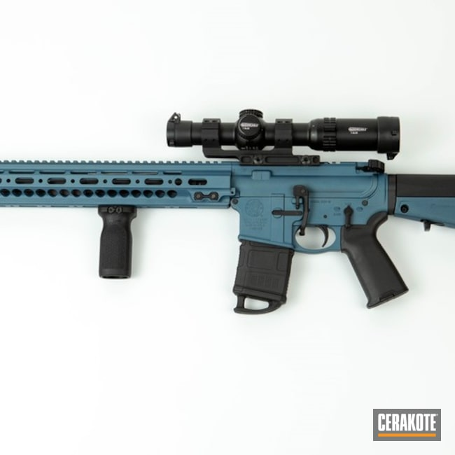 "Thumbnail image for project ""AR-15 with Cerakote H-185 Blue Titanium"""