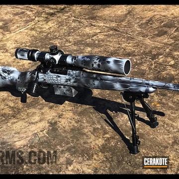 Cerakoted Savage Arms 308 Bolt Action Rifle With Cerakote Kryptek Camo