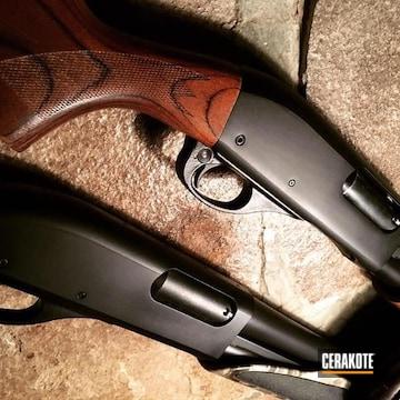 Cerakoted Remington 870 In H-146 Graphite Black