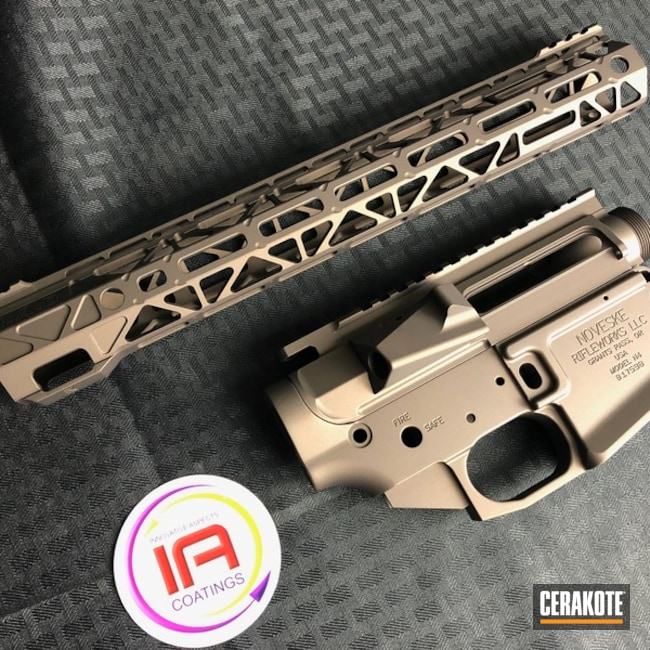 Mobile-friendly version of the 1st project picture. Graphite Black H-146Q, Noveske, Burnt Bronze H-148Q, Upper / Lower / Handguard