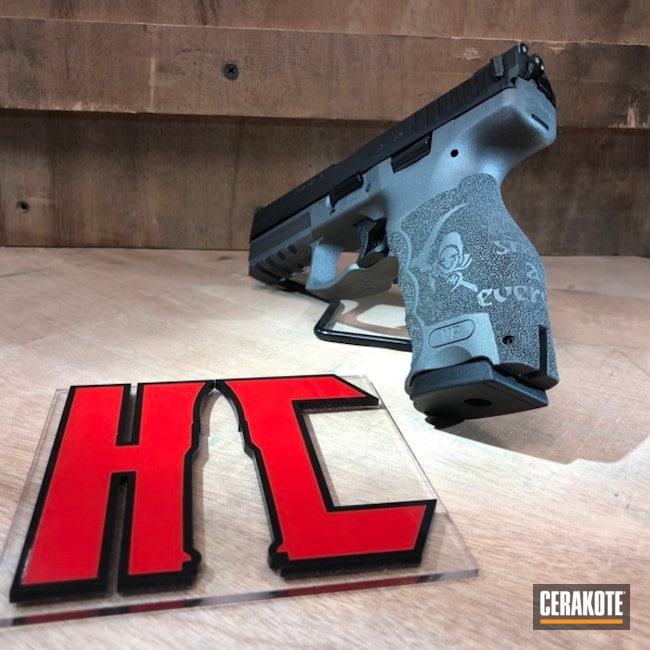 Heckler & Koch Handgun with Cerakote H-227 and H-190