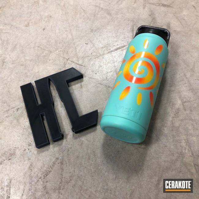 Cerakoted: Corvette Yellow H-144,Robin's Egg Blue H-175,YETI,Sunshine,Aluminum Water Bottle,Custom YETI Cup,Hunter Orange H-128