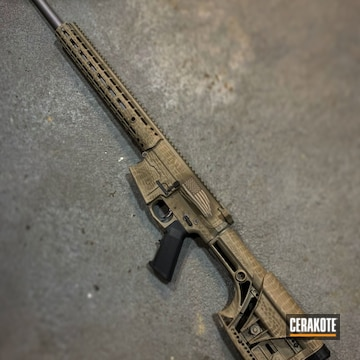 Cerakoted Aero Precision Rifle In A Cerakote Snake Skin Camo