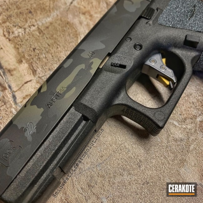 "Thumbnail image for project ""Glock 22 with a Cerakote MultiCam Black Finish"""
