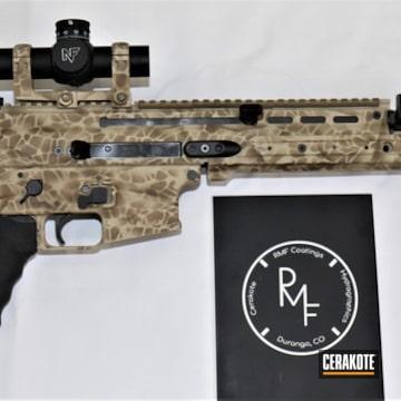 Cerakoted Custom Cerakote Camo On This Scar Rifle