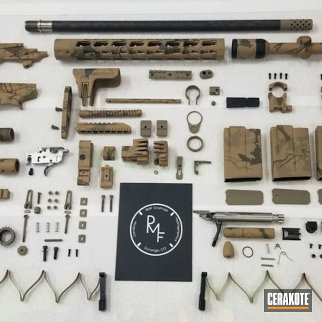 Cerakoted Ruger Precision 6.5 Gun Parts