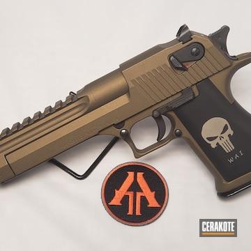 Cerakoted Desert Eagle Handgun With Cerakote H-148 Burnt Bronze
