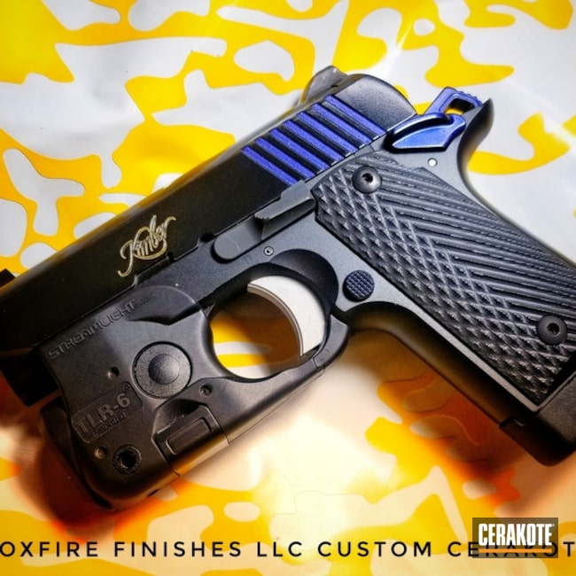Kimber Micro 9 Handgun with Graphite Black and High Gloss Ceramic Clear