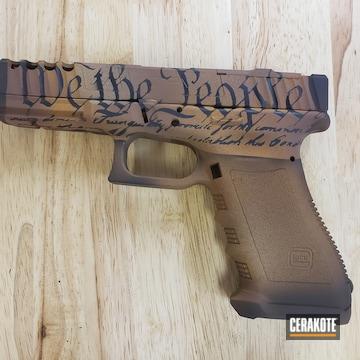 Cerakoted Glock 17 In A Custom Cerakote Rust Styled Finish