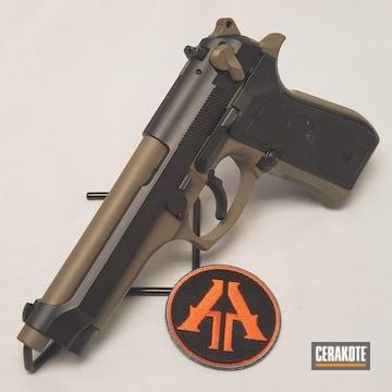 Cerakoted Two Toned Beretta Handgun With Cerakote H-267 And H-146