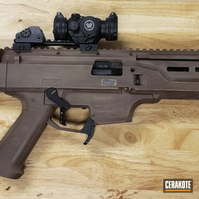 Woodgrain Cerakote Finish on this CZ Scorpion EVO Carbine