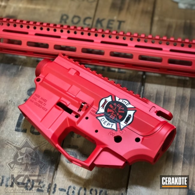 Firefighter Themed Aero Precision Upper / Lower / Handguard