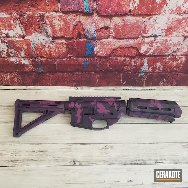 Custom Purple / Pink Camo Finish