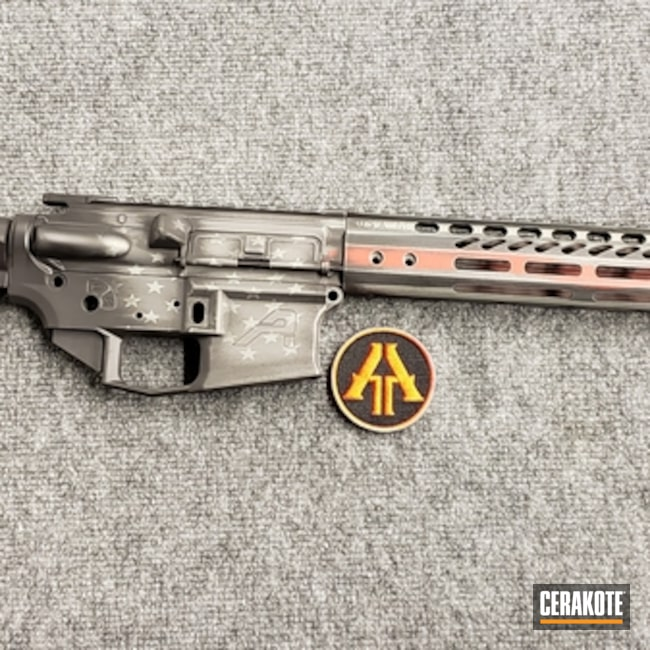 Thin Red Line Themed Aero Precision Rifle Build