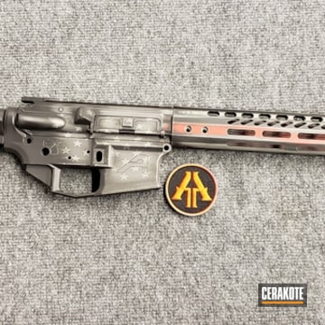 Cerakoted Thin Red Line Themed Aero Precision Rifle Build
