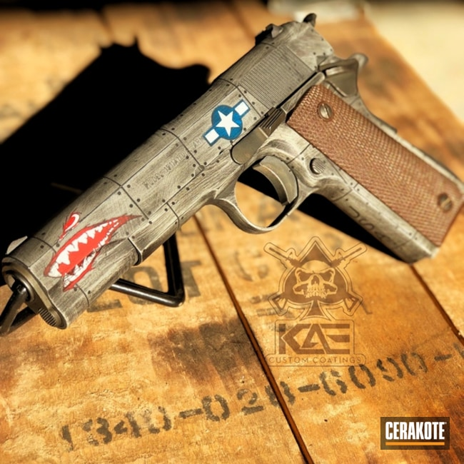 Cerakote P40 Fighter Plane Graphics on this 1911 Handgun