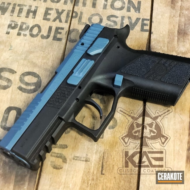 Two Toned CZ Handgun with Cerakote H-185